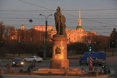 Monument to Suvorov Stock Image