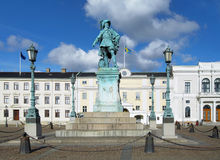 Monument to swedish king Gustav II Adolf Stock Image