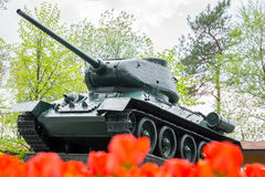 Monument to tank T34 Royalty Free Stock Photography