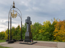 Monument to the tanks died Stock Image