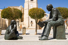 Monument to the teacher, Palencia Royalty Free Stock Image