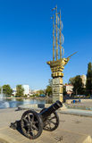 Monument to the 300th anniversary of city of Lipetsk near Komsom Royalty Free Stock Images