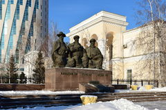 Monument to the three Great Judges in Astana Stock Photo