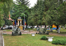Monument to Traian Mosoiu in Bran. Romania Royalty Free Stock Photos