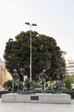 Monument to the traveling musicians in the city of Castellón de Stock Photo