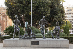 Monument to the traveling musicians in the city of Castellón de Royalty Free Stock Photo