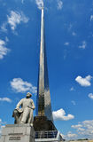 Monument to Tsiolkovsky in Moscow, Russia Stock Images