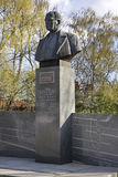 Monument to Tupolev in Kimry. Tver Oblast. Russia Stock Photos