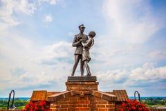 Monument to uhlan with girlfriend. Grudziadz. Poland Stock Photo