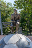 Monument to Ukrainian coach Valery Lobanovsky Stock Image