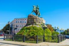 The monument to Ukrainian Hetman Stock Image