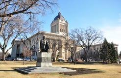 Monument to Ukrainian poet Shevchenko. Statues near Manitoba Legislative Building Winnipeg City, Manitoba province, Canada. The photo was taken in November 2013 Stock Images