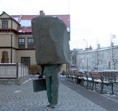 Monument to the Unknown Bureaucrat in Reykjavik stock photos