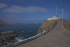 Monument to the Unknown Mariner in Iquique, Chile Stock Photography