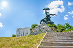 The monument to the uprising of the workers. In the city Royalty Free Stock Photo