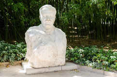 Monument to V. Molotov. Nikitsky Botanical Garden. Royalty Free Stock Image