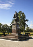 Monument to Vasily Tatishchev in Perm. Russia Stock Image