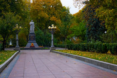 Monument to Vatutin in the park of Kiev Stock Photography