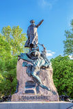 Monument to vice-admiral Makarov in Kronstadt, Russia Royalty Free Stock Images