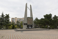 Monument to the Victims of the Deportation of the Peoples of Crimea in Evpatoria Royalty Free Stock Photo
