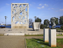 Monument to the victims of fascist terror in Rovinj. Istria. Croatia Royalty Free Stock Photography