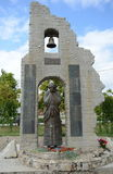 The monument to the victims of flood in Krymsk Royalty Free Stock Images