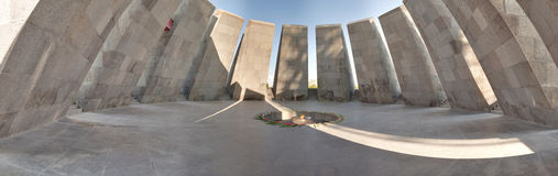 Monument to the victims of genocide of Armenians Stock Photo