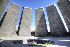 Monument to the victims of genocide of Armenians in the city of Yerevan Stock Images