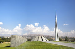 Monument to the victims of genocide of Armenians in the city of Yerevan Royalty Free Stock Images