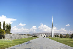 Monument to the victims of genocide of Armenians in the city of Yerevan Stock Photos