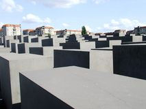 Monument to the victims of the Holocaust. A Monument to the victims of the Holocaust in Berlín Stock Photography
