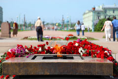 Monument to victims of revolution on Mars field. Sunny day Stock Photography