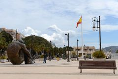 The monument to the victims of terror in Cartagena Stock Photo