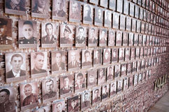 Monument to the Victory Day, 9 May. Mosaic from the old front-line of photos on the Kremlin wall. Stock Image