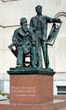Monument to Viktor and Apollinary Vasnetsov Stock Photography