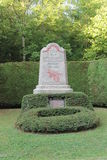 Monument to village of Fleury, France, destroyed in WW1 Stock Photography