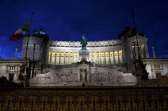 Monument to Vittorio Emanuele II. At night, Rome Italy Royalty Free Stock Images