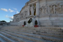 Monument to Vittorio Emanuele II, historic site, landmark, ancient history, archaeological site. Monument to Vittorio Emanuele II is historic site stock image