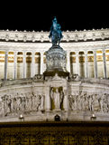 Monument to Vittorio Emanuele II at night, Rome It stock photos