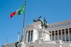 Monument to Vittorio Emanuele II. Rome, Italy Royalty Free Stock Photo