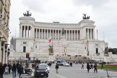 Monument to Vittorio Emanuele II in Rome Stock Photo