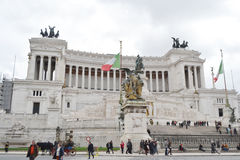 Monument to Vittorio Emanuele II in Rome Stock Photos