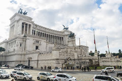 Monument to Vittorio Emanuele II in Rome, Italy. Royalty Free Stock Images