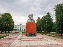 Monument to Vladimir Ilyich Lenin near the railway station in Rtischevo, Saratov region, Russia Stock Photos