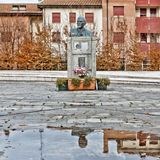 Monument to Vladimir Lenin in Cavriago, Italy Stock Photography