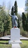 Monument to Vladimir Lenin in a city park in Krasnogorsk Stock Image