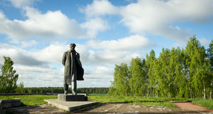 A monument to Vladimir Lenin Royalty Free Stock Photography