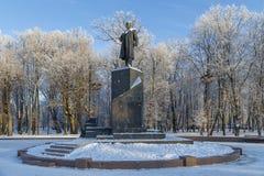The monument to Vladimir Ulyanov - Lenin Stock Photography