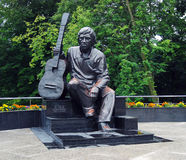 Monument to Vladimir Visotsky Stock Images