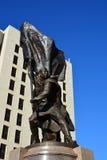 Monument to the war hero Koshkarbaev in Astana Stock Images